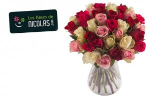 bouquet de roses à moitié prix
