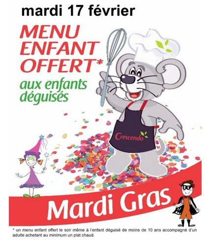 Cafétéria Crescendo repas enfant gratuit