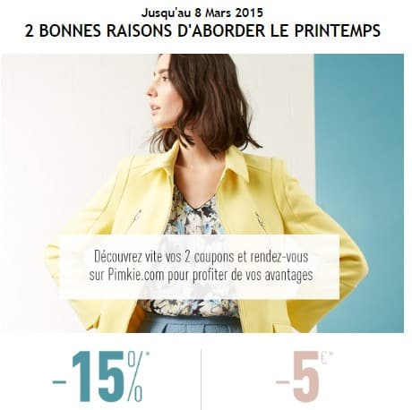 Code promo Nouvelle collection Pimkie
