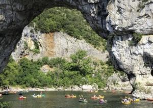 Descente de l'Ardèche en canoë/kayak