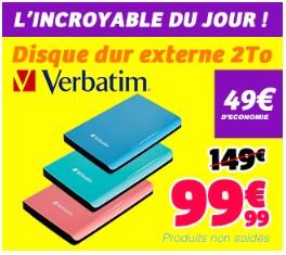 disque dur externe 2 to verbatim usb 3 0 moins de 100 euros. Black Bedroom Furniture Sets. Home Design Ideas