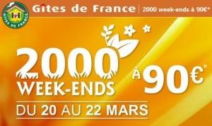 Gites de France à 90 euros
