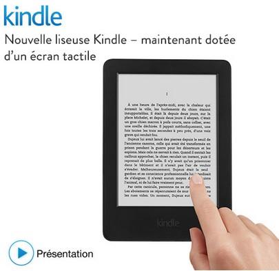 Liseuse Kindle tactile Amazon à 49 euros