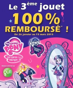 My Little Pony - Equestria Girls remboursement 2015