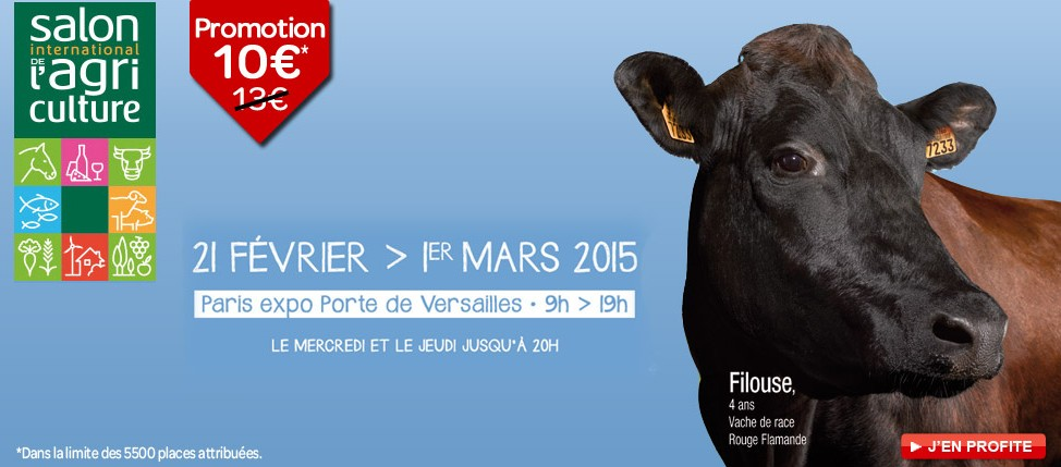 10 euros l entr e au salon de l agriculture de paris 2015 for Salon agriculture paris 2015