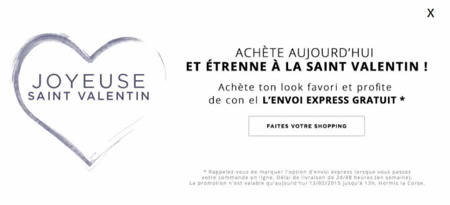 Saint Valentin Stradivarius livraison express gratuite