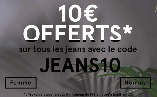 remise 10 euros jeans sur Sojeans