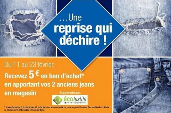 reprise jean Carrefour 2015