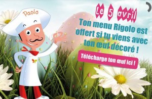 1 menu enfant gratuit Pizza Pai Paques