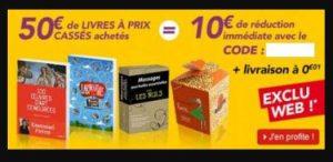 10 euros de remises immédiates Decitre