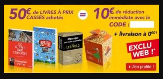 10 euros de remises Decitre