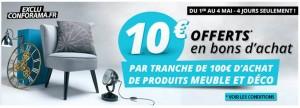 10 euros par tranche de 100 euros Confo