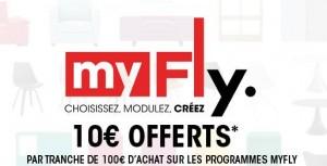 10 euros pour 100 euros sur MyFly
