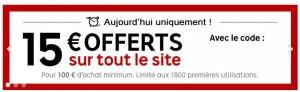 15 euros de remise pour 100 euros d'achats sur Priceminister