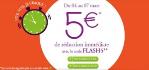 5 euros de remises sur Sergent Major
