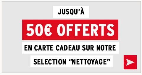 50 euros carte cadeau sur achat aspirateur DARTY