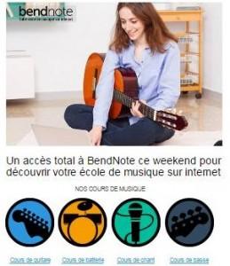 Acces gratuit ecole de musique bendnote
