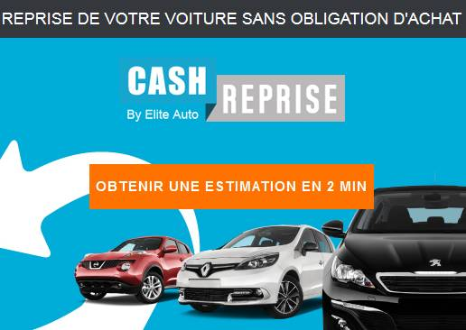 Cash reprise estimation gratuite en ligne sans for Reprise de vehicule garage