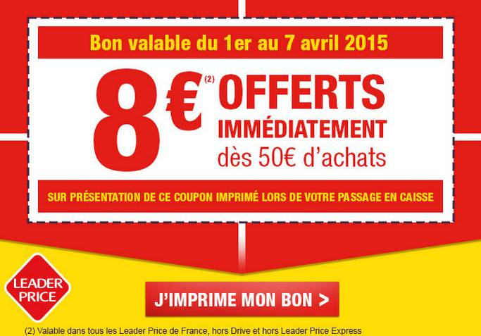 Coupon Leader Price avril 2015