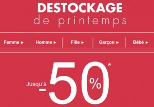 Destockage printemps Kiabi 2015