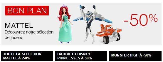 Mattel a moitie prix