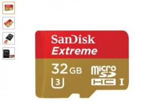 MicroSDHC 32Go SanDisk Extreme