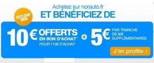 Norauto10 euros en bon d'achat
