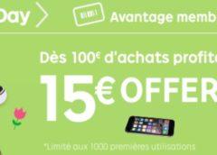 le 22.03 : 15 euros de remise pour 100 euros d'achats sur Priceminister