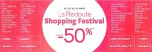Shopping Festival La Redoute 2015
