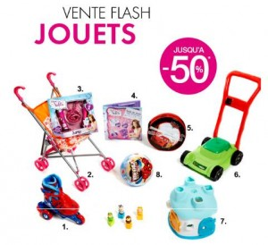 Vente flash jouets chez Kiabi
