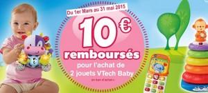 Vtech Baby bon achat de 10 euros