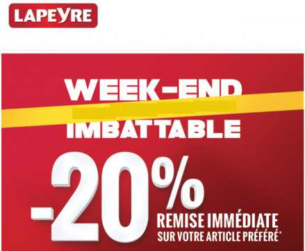 Week-end imbattable chez Lapeyre