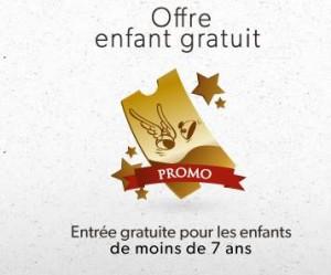 billets enfants gratuits au parc Asterix