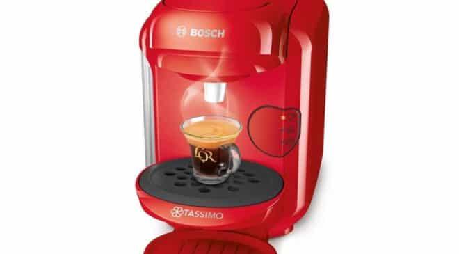 29,99€ la cafetière Tassimo Vivy BOSCH 1403 rouge (port inclus)