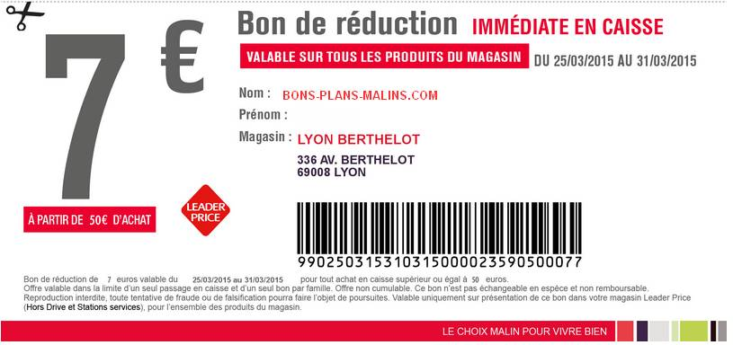 Coupon imprimer archives page 3 sur 7 les bons plans - Bon de reduction atylia ...