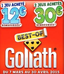 offre de remboursement Best of Goliath 2015