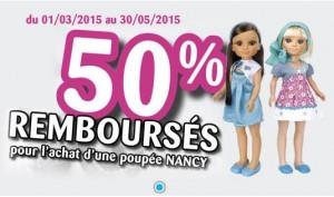 offre de remboursement poupee Nancy
