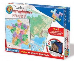 puzzle geographique La France multimedia Clementoni