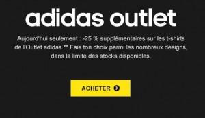 remise sur les t-shirts de Adidas Outlet