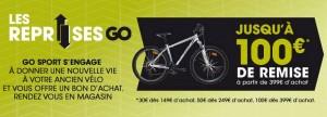 reprise d'un vélo par GO Sport