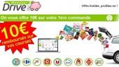 10 euros offerts sur vos achats en drive