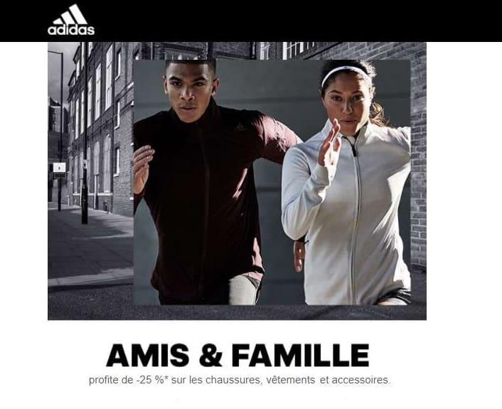 25% sur tout Adidas (dont Outlet)