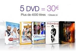 30 euros les 5 DVD