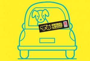 Autocollant gratuit personnalisé Animal à bord