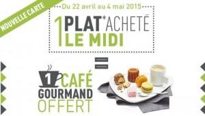 Campanile 1 café gourmand offert pour 1 plat acheté