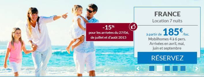 Carrefour Voyages 1 semaine en camping pour 185 euros