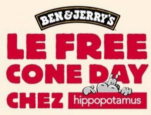 Free Cone Day Hippopotamus
