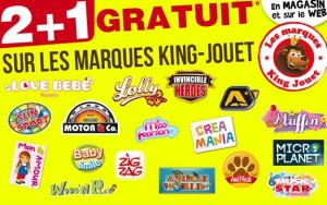 King Jouet 1 jouet offert pour 2 achetés