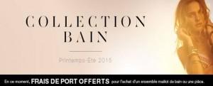 Livraison gratuite sur l'achat de maillot de bain ETAM