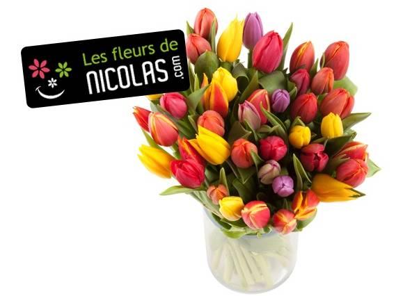 moins de 10 euros le bouquet de 30 tulipes au lieu 29 99 euros fdp. Black Bedroom Furniture Sets. Home Design Ideas